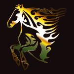 Golden Flame Horse 2