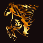 Golden Flame Horse 4