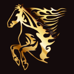 Golden Flame Horse 6