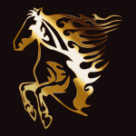 Golden Flame Horse 7