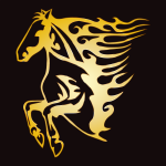 Golden Flame Horse 9