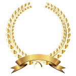 Golden Laurel Wreath Remixed No Background