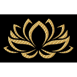 Golden Lotus Flower
