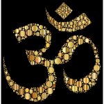 Golden Om Symbol Circles
