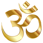Golden Om Symbol No Background