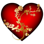 Golden Rose Heart