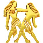 Golden Gemini Sign
