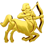 Golden Sagittarius Sign