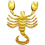 Golden Scorpio Zodiac Sign