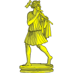 Golden statue vector image