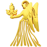 Golden Virgo Zodiac Symbol