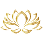Goldenized Lotus Flower