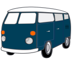 Vintage van vector graphics