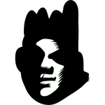 Vector image of black face silhouette