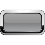 Thick grayscale square border button vector graphics