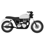 Grayscale motorcycle