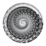 Grayscale Swirling Circles Vortex Variation 4