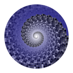 Grayscale Swirling Circles Vortex Variation 6