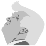 Grayscale Trump Profile
