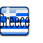 Greece flag with writing vector illustration