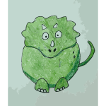 Green Dino Daily Sketch 26 2015061051