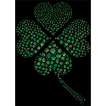 Green Four Leaf Clover Fractal