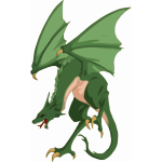 Green Wyvren dragon
