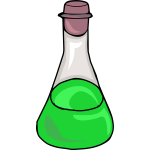 Green science bottle