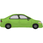 Green automobile vector image