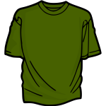 Green t-shirt vector image