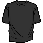 Gray t-shirt vector image