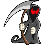 Grey grim reaper vector illustration