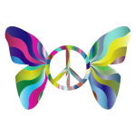 Groovy Peace Sign Butterfly 4