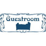''Guestroom'' door sign