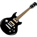 Vector graphics of electric guitar