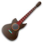 Vector graphics of acoustic guitar
