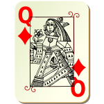 Queen of diamonds image