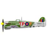 Hawker Typhoon vector illustration