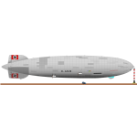 Hindenburg airship vector