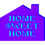Home sweet home poster vector illustration