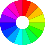 Color wheel with gradient