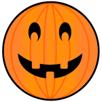 Color image of carved pumpkin for Halloween celebration