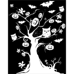 Halloween tree drawing