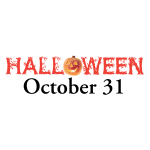 Halloween October 31 sign vector image