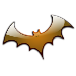 Brown Halloween bat vector image
