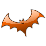 Orange Halloween bat vector image