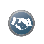 Hand shake sign vector image