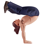 Vector image of guy doing a handstand pose