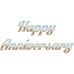 Happy Anniversary Typography No Background