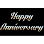 Happy Anniversary Typography
